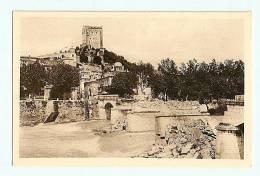 CPA  26  Crest Vue Generale Et Le Pont,vue Prise En Aval  , - Crest