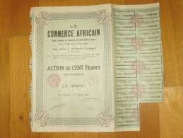 Action De Cent Francs - Le COMMERCE AFRICAIN -  à Rufisque (Sénégal) - Afrique