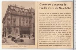 Comment S'imprime La Feuille D'avis De Neuchâtel - Journaux - Quotidiens