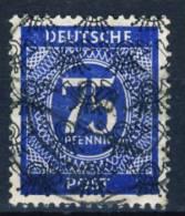 1948 Germany Posthorn Net Overprint  75 Pfennig Stamp Used, Michel # 67 - American/British Zone