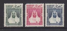 Bahrain 1957 - Mi 118-120 MH - Bahrein (...-1965)