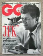 "GQ Magazine - Jan., 1992 - The Furor Over ""JFK"": Oliver Stone Defends His Movie [#A0335] - Men's"