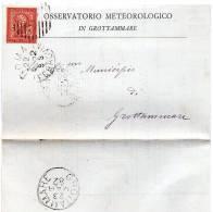 1882 LETTERA INTESTATA OSSERVATORIO METEOROLOGICO IN GROTTAMMARE - 1878-00 Umberto I