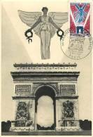 Jan13Ph 890 : Carte Maximum  -  Cinquentenaire De L'Armistice De 1918  -  Arc De Triomphe - 1960-69