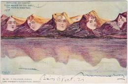 Sandnessjoen (N) Berggesicht, Sieben Schwestern, Ill. F. Hahs, Autotypie Killinger 167,  Ca. 1900   ***27606 - Norvège