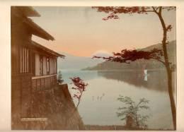 PHOTOGRAPHS  ,FUJI FROM HAKONE LAKE  ,JAPAN,CARDBOARD SIZE 26.5 X 20.0 Cm - Fotos