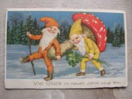 Gnome Zwerge Dwarf  - Champignon Mushroom - Ca 1905-10   -  D90874 - Fiabe, Racconti Popolari & Leggende