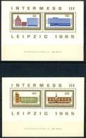 1965 East Germany Cplt. Set Of 2 MNH Souvenir Sheets, Leipzig Intermess, Michel # Block 23-24 - [6] Democratic Republic