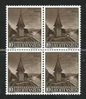 LIECHTENSTEIN - 1957 - Cat. Yvert E Tellier 324 - 325 - 326 - 3 Quartine  Usate - Serie Complete - Used Stamps