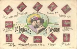 TIMBRES - LE LANGAGE DES TIMBRES - Briefmarken (Abbildungen)