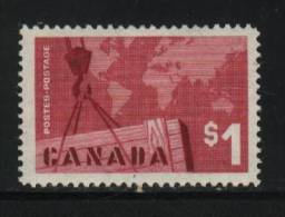 Canada Scott # 411 ( Z2 ) Hinged Value $ 10.00 - 1952-.... Règne D'Elizabeth II