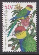 2005. AUSTRALIAN DECIMAL. Fauna (Birds - General). 50c. Australian Parrots - Red- Capped Parrot. FU. - 2000-09 Elizabeth II
