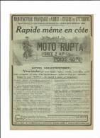 165/ Moto, Rupta 1912 - Publicités