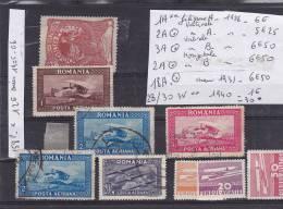 TIMBRE DE ROUMANIE LOT AÉRIENNE N R 1 **- 2-X 2 -3 -18-28/30- 158 POSTE *  COTE 43.75  ( N R 30 * ) - Roumanie