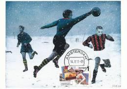 D10304 CARTE MAXIMUM CARD FD 2011 NETHERLANDS - SOCCER - DETAIL ON STAMP CP ORIGINAL - Soccer