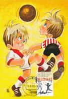 D10340 CARTE MAXIMUM CARD FD 1989 NETHERLANDS - SOCCER CHILDREN CP ORIGINAL - Soccer