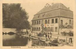 """CPA FRANCE 67 """"Wissembourg, Restaurant Café Billard"""" - Wissembourg"""