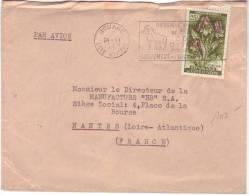 Timbre 195 (eulophia) Seul Sur Lettre De Bouake à Nantes Du 24/6/1963 Avec Flamme Réserve De Faune De Bouna - Côte D'Ivoire (1960-...)