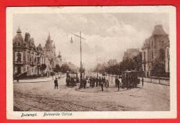 CPA: Roumanie - Bucarest - Bucaresti - Bulevardu Coltea (Tramway à Chevaux) - Roumanie