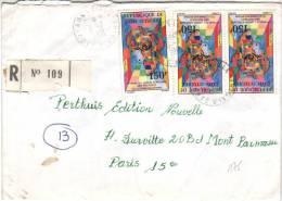 Recommandé De Agboville à Paris Du 6/7/1981 Avec 3 Timbres YT 565 (Union Africaine Des Postes) - Côte D'Ivoire (1960-...)