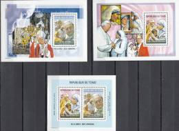 TSCHAD TCHAD CHAD CIAD 2003 POPE JOHN PAUL MOTHER THERESA MNH ** NEUFS GOMMA INTEGRA GP - Päpste