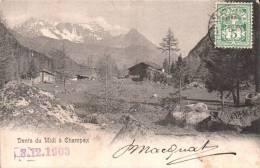 SUISSE DENTS DU MIDI A CHAMPEX CARTE PRECURSEUR CIRCULEE 1903 - Suisse