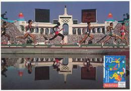 D10376 CARTE MAXIMUM CARD 1993 NETHERLANDS - ATHLETICS RUNNING YOUTH OLYMPICS CP ORIGINAL - Athletics