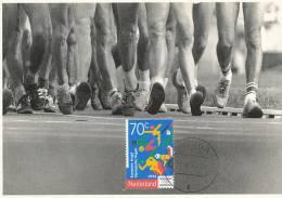 D10378 CARTE MAXIMUM CARD 1993 NETHERLANDS - ATHLETICS RUNNING YOUTH OLYMPICS CP ORIGINAL - Athletics
