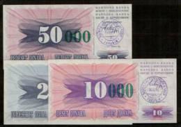 BOSNIA & HERZEGOVINA PAPER MONEY EXTRA ZEROS & GREEN OVERPRINT 1993 UNCIRCULAR ** - Bosnia Y Herzegovina
