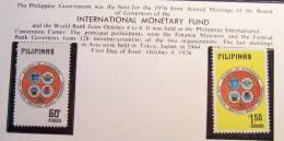 PHILIPPINES PILIPINAS 1976 MNH **  SCOTT 1301/1302  INTERNATIONAL MONETARY FUND WORLD BANK - Filippine