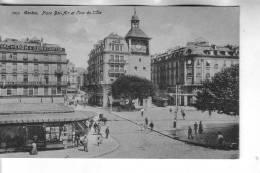 Cartolina B/N GENEVE (svizzera)Plaza Bel Air Et Jour De L´Ile - GE Genf