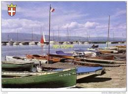 THONON LES BAINS -  Le Port  -  Au Fond, La Rive Suisse -    Barques  - N° 5298 - Thonon-les-Bains