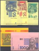 Croatia Paper Money 9 Bills Test Printing 1993 UNCIRCULAR ** - Croatie