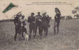 Grandes Manoeuvres Du Centre (1908), Général Sur Le Champ De Bataille Donnant Ses Instructions A Son Etat Major - Manovre