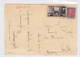 LIBIA  /  ITALIA ( Lodi ) - Card _ Cartolina  - Cent. 5 + 20 - Storia Postale