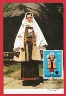 Roumanie - Carte Maximum - Costume National Féminin De La Région De Suceava (Folklore) - Roumanie