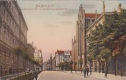 Pologne  Beuthen O S  Gymnasialstrasse Mit Hindenburg Gymnazium Animation - Polen