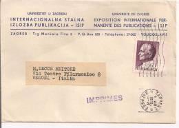 UNIVERZITET U ZAGREBU, ZAGREB, IMPRIMES  1970, DIRECTEUR  FARKAS, - Lettres & Documents