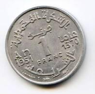 """1 Francs """"MAROC"""" Alu 1951  1370 XF - Maroc"""