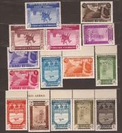 ES711SGDEV-L3852TA.España.Spain Espagne. PRENSA AEREA .1936. (711/25**)sin Charnela .LUJO VARIEDAD BORDE DE HOJA - Aéreo