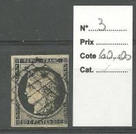 France No: 3 Cote 60 Euros Y T - 1849-1850 Cérès