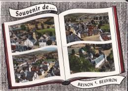 58 / SOUVENIR DE BRINON SUR BEUVRON / L EGLISE / LE CHATEAU / LA PLACE / CIRC 1965 - Brinon Sur Beuvron