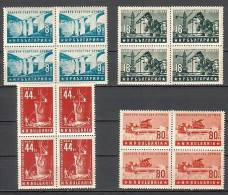 BULGARIA / BULGARIE - 1953 - Liens Sovieto - Bulgaries - Bl De 4** - Neufs