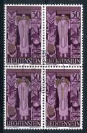 LIECHTENSTEIN - 1959 Cat. Yvert E Tellier N° 342 - Quartina  Usata - Serie Completa - Used Stamps