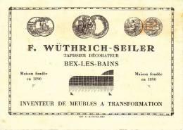 CH-BEX -ANCIENNE CARTE DE VISITE-M.WUTRIRICH-ENV 1900 - Cartes De Visite