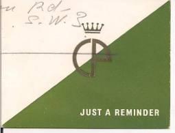 CIRO OF BOND  ST, LONDON E  NEW YORK,  1959, CIROS UNIQUE OFFER, CM. 7,50X 5,50 - Advertising