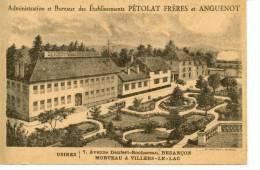 PETOLAT FRERES ET ANGUENOT - Horlogerie - Administration Et Bureaux - Besançon - Morteau - Villers Le Lac - Advertising