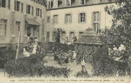 Carantec (finistere) Le Grand Hotel Du Kelenn Vue Interieure Prise Du Jardin 1913 Scan Recto Verso - Carantec