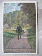 Künslterkarte Paul Hey - Volksliederkarte Nr. 64 - Das Wandern Ist Des Müllers Lust Das Wandern    D90974 - Hey, Paul