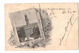 10480    UN SALUTO DA FIRENZE   1901 - Italia